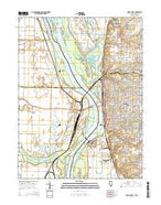Quincy West Illinois Current topographic map, 1:24000 scale, 7.5 X 7.5 Minute, Year 2015 from Illinois Map Store