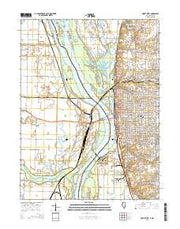 Quincy West Illinois Current topographic map, 1:24000 scale, 7.5 X 7.5 Minute, Year 2015 from Illinois Maps Store