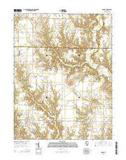 Ramsey Illinois Current topographic map, 1:24000 scale, 7.5 X 7.5 Minute, Year 2015 from Illinois Maps Store