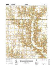 Ramsey Lake Illinois Current topographic map, 1:24000 scale, 7.5 X 7.5 Minute, Year 2015 from Illinois Maps Store