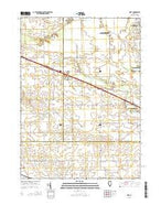 Riley Illinois Current topographic map, 1:24000 scale, 7.5 X 7.5 Minute, Year 2015 from Illinois Map Store