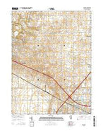 Rising Illinois Current topographic map, 1:24000 scale, 7.5 X 7.5 Minute, Year 2015 from Illinois Map Store