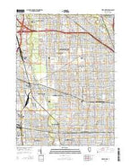 River Forest Illinois Current topographic map, 1:24000 scale, 7.5 X 7.5 Minute, Year 2015 from Illinois Map Store