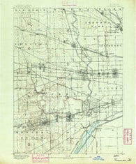 Riverside Illinois Historical topographic map, 1:62500 scale, 15 X 15 Minute, Year 1891