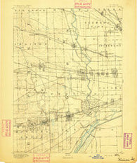 Riverside Illinois Historical topographic map, 1:62500 scale, 15 X 15 Minute, Year 1893