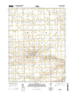 Roanoke Illinois Current topographic map, 1:24000 scale, 7.5 X 7.5 Minute, Year 2015 from Illinois Map Store