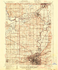 Rockford Illinois Historical topographic map, 1:62500 scale, 15 X 15 Minute, Year 1918