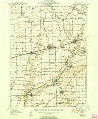 Sandwich Illinois Historical topographic map, 1:62500 scale, 15 X 15 Minute, Year 1950