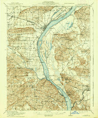 Shawneetown Illinois Historical topographic map, 1:62500 scale, 15 X 15 Minute, Year 1916