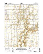 Stewardson East Illinois Current topographic map, 1:24000 scale, 7.5 X 7.5 Minute, Year 2015 from Illinois Maps Store