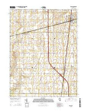 Tolono Illinois Current topographic map, 1:24000 scale, 7.5 X 7.5 Minute, Year 2015 from Illinois Maps Store