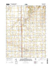 Tonica Illinois Current topographic map, 1:24000 scale, 7.5 X 7.5 Minute, Year 2015 from Illinois Maps Store