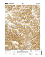 Versailles Illinois Current topographic map, 1:24000 scale, 7.5 X 7.5 Minute, Year 2015 from Illinois Maps Store