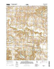 Victoria Illinois Current topographic map, 1:24000 scale, 7.5 X 7.5 Minute, Year 2015 from Illinois Maps Store