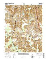 Vienna Illinois Current topographic map, 1:24000 scale, 7.5 X 7.5 Minute, Year 2015 from Illinois Maps Store
