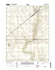 Villa Grove Illinois Current topographic map, 1:24000 scale, 7.5 X 7.5 Minute, Year 2015 from Illinois Maps Store