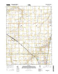 Virden North Illinois Current topographic map, 1:24000 scale, 7.5 X 7.5 Minute, Year 2015