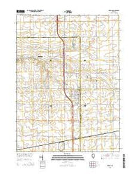 Wenona Illinois Current topographic map, 1:24000 scale, 7.5 X 7.5 Minute, Year 2015
