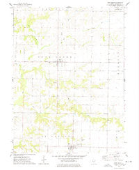 West Point Illinois Historical topographic map, 1:24000 scale, 7.5 X 7.5 Minute, Year 1974