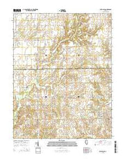 West Salem Illinois Current topographic map, 1:24000 scale, 7.5 X 7.5 Minute, Year 2015 from Illinois Maps Store