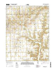 Westfield East Illinois Current topographic map, 1:24000 scale, 7.5 X 7.5 Minute, Year 2015 from Illinois Maps Store