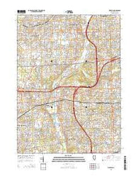 Wheaton Illinois Current topographic map, 1:24000 scale, 7.5 X 7.5 Minute, Year 2015