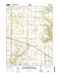 Wheeler Illinois Current topographic map, 1:24000 scale, 7.5 X 7.5 Minute, Year 2015