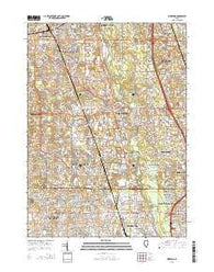 Wheeling Illinois Current topographic map, 1:24000 scale, 7.5 X 7.5 Minute, Year 2015