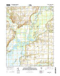 Wildcat Lake Illinois Current topographic map, 1:24000 scale, 7.5 X 7.5 Minute, Year 2015