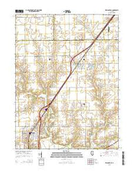 Williamsville Illinois Current topographic map, 1:24000 scale, 7.5 X 7.5 Minute, Year 2015