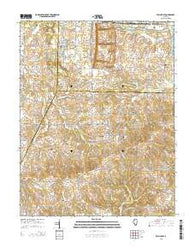 Willisville Illinois Current topographic map, 1:24000 scale, 7.5 X 7.5 Minute, Year 2015