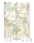 Wilmington Illinois Current topographic map, 1:24000 scale, 7.5 X 7.5 Minute, Year 2015 from Illinois Map Store
