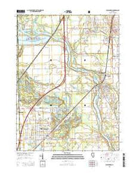 Wilmington Illinois Current topographic map, 1:24000 scale, 7.5 X 7.5 Minute, Year 2015