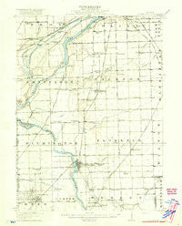 Wilmington Illinois Historical topographic map, 1:62500 scale, 15 X 15 Minute, Year 1918