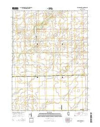Wilton Center Illinois Current topographic map, 1:24000 scale, 7.5 X 7.5 Minute, Year 2015