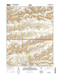 Winchester Illinois Current topographic map, 1:24000 scale, 7.5 X 7.5 Minute, Year 2015