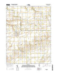 Windsor Illinois Current topographic map, 1:24000 scale, 7.5 X 7.5 Minute, Year 2015