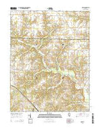 Winkle Illinois Current topographic map, 1:24000 scale, 7.5 X 7.5 Minute, Year 2015 from Illinois Map Store