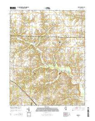 Winkle Illinois Current topographic map, 1:24000 scale, 7.5 X 7.5 Minute, Year 2015