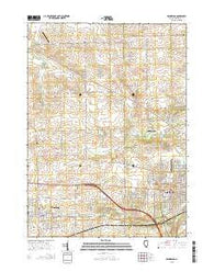 Winnebago Illinois Current topographic map, 1:24000 scale, 7.5 X 7.5 Minute, Year 2015