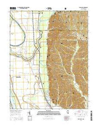 Wolf Lake Illinois Current topographic map, 1:24000 scale, 7.5 X 7.5 Minute, Year 2015