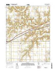Woodbury Illinois Current topographic map, 1:24000 scale, 7.5 X 7.5 Minute, Year 2015