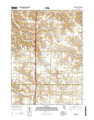 Woodhull Illinois Current topographic map, 1:24000 scale, 7.5 X 7.5 Minute, Year 2015