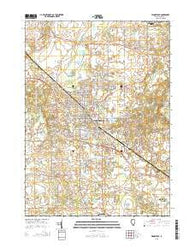 Woodstock Illinois Current topographic map, 1:24000 scale, 7.5 X 7.5 Minute, Year 2015