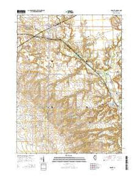 Wyanet Illinois Current topographic map, 1:24000 scale, 7.5 X 7.5 Minute, Year 2015
