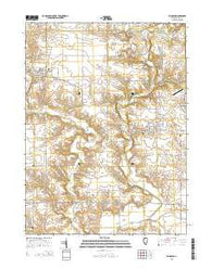 Wyoming Illinois Current topographic map, 1:24000 scale, 7.5 X 7.5 Minute, Year 2015