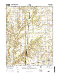 Xenia Illinois Current topographic map, 1:24000 scale, 7.5 X 7.5 Minute, Year 2015
