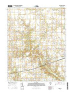 Xenia NE Illinois Current topographic map, 1:24000 scale, 7.5 X 7.5 Minute, Year 2015 from Illinois Map Store