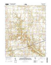 Xenia NE Illinois Current topographic map, 1:24000 scale, 7.5 X 7.5 Minute, Year 2015