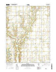 Yale Illinois Current topographic map, 1:24000 scale, 7.5 X 7.5 Minute, Year 2015